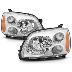 Factory Style For 04 12 Mitsubishi Galant Chrome Headlight Replacement Lamp