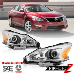 For 2013 2015 Nissan Altima Sedan 4dr factory Style Projector Headlight Pair