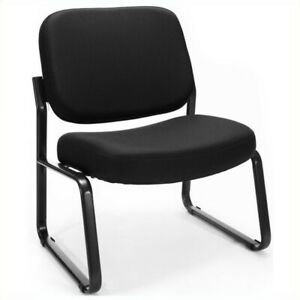 Ofm Big And Tall Reception Armless Guest Chair Chairs In Black