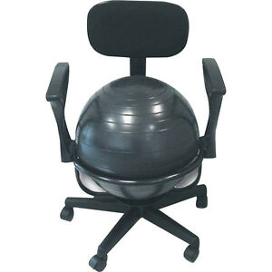 Ball Office Chair Exercise Fitness Yoga Gym Stability Balance Workout Back Pain