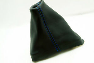 Manual Shift Boot Cover Synthetic Leather For Vw Beetle 1998 2010 Blue Stitch