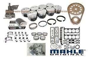 Chevy 454 Performer Engine Kit Crank rods dome Pistons rings bearings gaskets