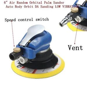6 150mm Air Random Orbital Palm Sander Auto Car Body Orbit Da Sanding Tool Kit