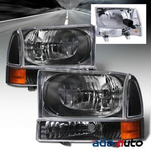 1999 2004 Ford Excursion f 250 f 350 Super Duty Headlights corner Lamps Set