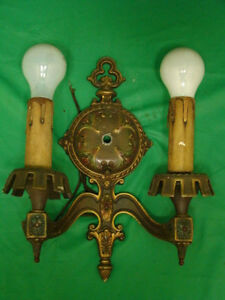 Antique Victorian Nouveau Deco Wall Electric Candle Wall Light Sconce 12 25