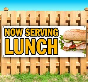 Now Serving Lunch Advertising Vinyl Banner Flag Sign Many Sizes Available Usa