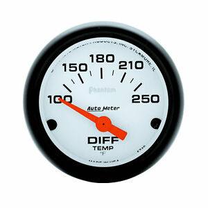 Auto Meter 5749 Differential Temperature Gauge 2 1 16 100 250 Degrees Electri