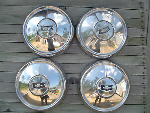 Vintage 1954 54 Chevrolet Impala Bel Air Nomad Wheel Covers Hubcaps Center Caps