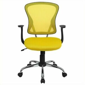 Scranton Co Mid back Mesh Office Chair In Yellow