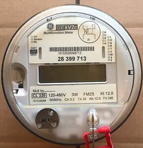 Ge General Electric Watthour Meter Kwh Kv2c Fm2s 4 Lug 3w 120 480v 200a