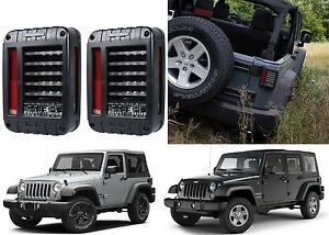 Custom Led Tail Lights For 2007 2017 Jeep Wrangler Jk New Free Shipping Usa