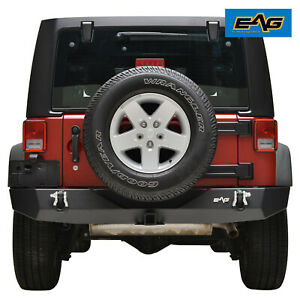 07 18 Jeep Wrangler Jk Full Width Rear Bumper With 2 Hitch Receiver