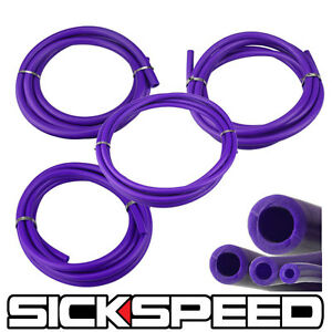 3 Meter Silicone Hose Kit Set For Engine Bay Dress Up 4mm 6mm 8mm 12mm Purple P3