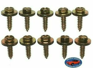 Gm Body Fender Grille Interior Factory Correct 10x34 Screws Bolts 10pcs J Fits 1966 Gto