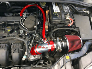 Red For 2012 2014 Ford Focus 2 0l L4 Non turbo S Se Sel Titanium Air Intake
