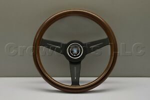 Nardi Classic Wood Steering Wheel 340mm Black Spokes Part 5061 34 2000
