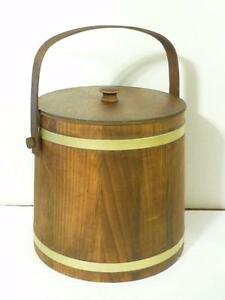 Reconditioned Wooden Putney Basketville Vermont Firkin Ale Bucket Lid