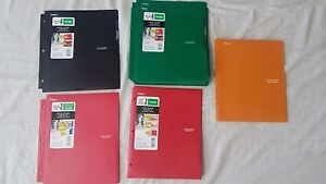 Lot Of 115 Five Star And Mead Folders Poly Plastic