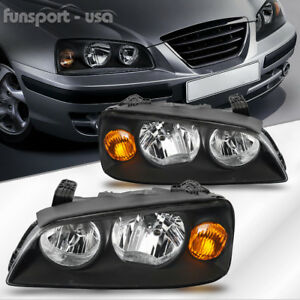 For 2004 2005 2006 Hyundai Elantra Black Headlights Lamps Replacement Left right