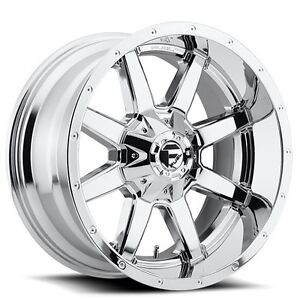 Set4 Off Road 18x12 Fuel Wheels D536 Maverick Chrome Rims