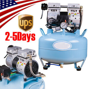 Medical Dental Air Compressor Silent Noiseless Oilless Oill Free 30l 550w Gfit