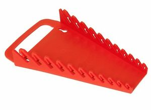 Ernst 5086 11 Tool Gripper Wrench Organizer Red