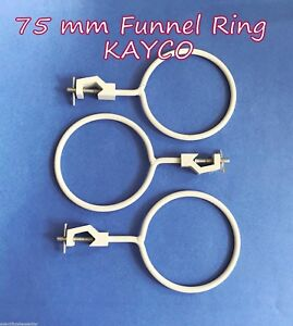 Funnel Ring retort Clamp Holder Set Of 3 Support And Clamps glassware Handling