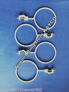 100 Mm Funnel Retort Clamp Holder X 4 supports And Clamps glassware Handling