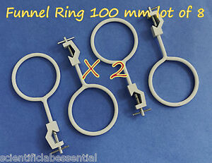 8 Pcs Funnel retort Clamp Holder 100 Mm supports And Clamps glassware Handling