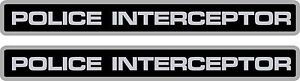 2 Pack Police Interceptor Decals Stickers Crown Vic 8 X 1