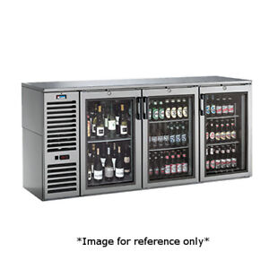 Krowne Metal Ns72l 3 Section Narrow Door Refrigerated Back Bar Storage Cabinet