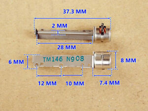 Micro 8mm Mini Stepper Motor 2 phase 4 wire Precision Long Linear Screw Shaft