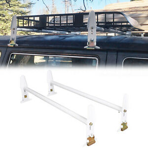 Adjustable Van Roof Ladder Rack 500lbs For Chevy Dodge Ford Gmc Express 77 New