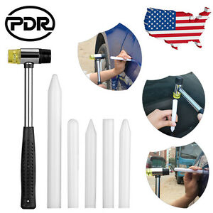 Pdr Tools Paintless Dent Repair Ding Tap Down Rubber Hammer Nylon Pen Knock Down