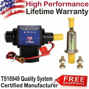 Top Universal 4 7 Psi 3 8 Inch Micro Electric Fuel Pump 35 Gph 12v New