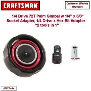 Craftsman Gimbal Palm 3 8 Drive 72 Tooth Ratchet With Adapters 3 Pc Set