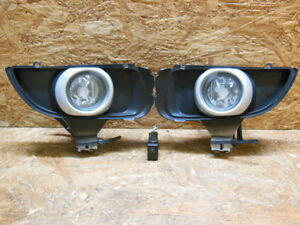 2002 2006 Jdm Mazda Mpv Lw Silver Fog Light Set With Frame And Switch Oem