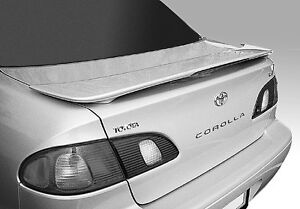 1998 2002 Toyota Corolla Oem Factory Style Spoiler Rear Wing Fin Unpainted Abs