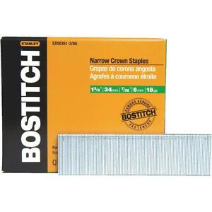 Bostitch 1 3 8 galv Finish Staple