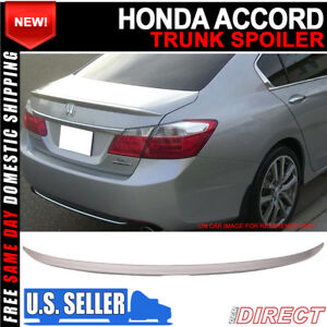 Fit 13 16 Honda Accord Oe Trunk Spoiler Painted nh700m Alabaster Silver Metallic