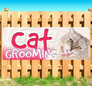 Cat Grooming Advertising Vinyl Banner Flag Sign Many Sizes Available Usa