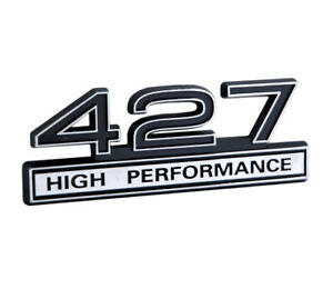 427 7 0 Liter Engine High Performance Emblem Badge Logo With Chrome Black Trim