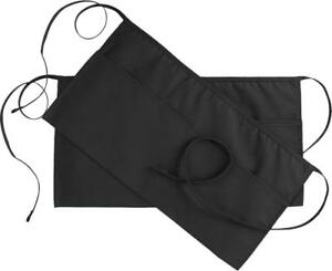 Waist Apron 3 Pockets Black 24x12 Set Of 2 Restaurant Waitress Utopia Kitchen