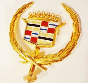 Cadillac 1980 1981 1982 1983 1984 1985 Seville Hood Ornament 24k Gold Plated