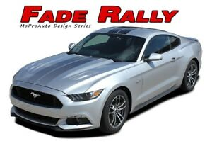 Ford Mustang 2015 2016 2017 Fade Rally Hood Racing Stripe Vinyl Graphic 3m Decal