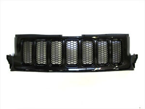 2011 2013 Jeep Grand Cherokee Front Grille Brilliant Black Oem New Mopar Genuine