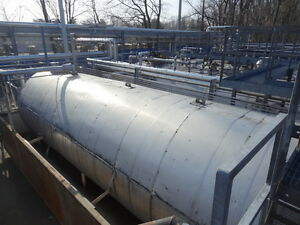 12 000 Gallon 304 Ss Stainless Steel Horizontal Storage Tank Containment