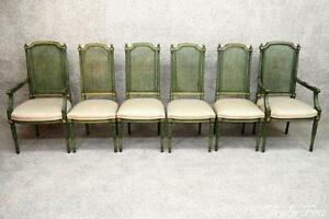 Custom Quality French Regency 6 Dining Chairs Louis Xvi 4 Side 2 Arm For Restore