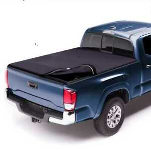 New 5 5ft Bed Rubber Sealed Lock Roll Soft Tonneau Cover Fits 04 17 Ford F150