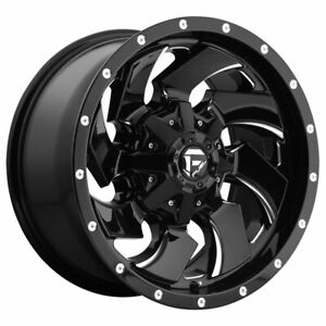 Fuel Cleaver D574 18x9 6x135 6x139 7 Offset 12 Gloss Black Milled Qty Of 1
